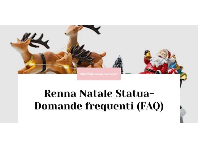 Renna Natale Statua- Domande frequenti (FAQ)