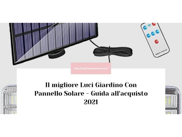Le migliori marche di Luci Giardino Con Pannello Solare italiane
