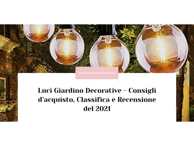 La top 10 luci giardino decorative nel 2021