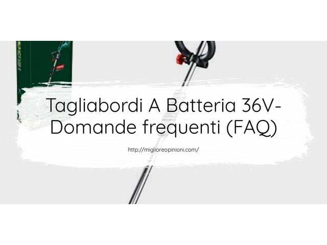 Tagliabordi A Batteria 36V- Domande frequenti (FAQ)