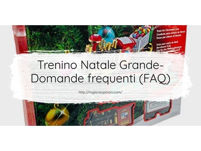 Trenino Natale Grande- Domande frequenti (FAQ)