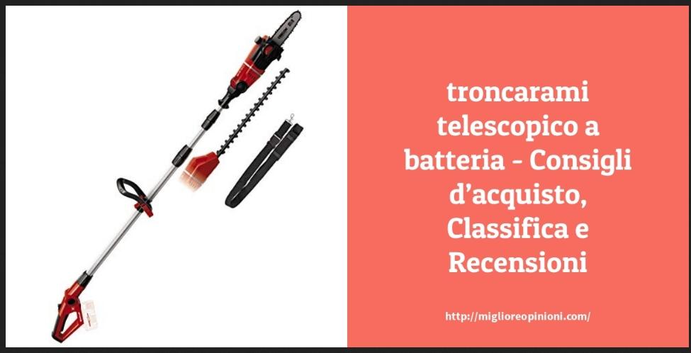 La top 10 troncarami telescopico a batteria nel 2021
