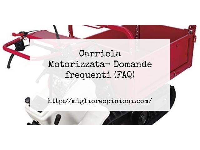 Carriola Motorizzata- Domande frequenti (FAQ)