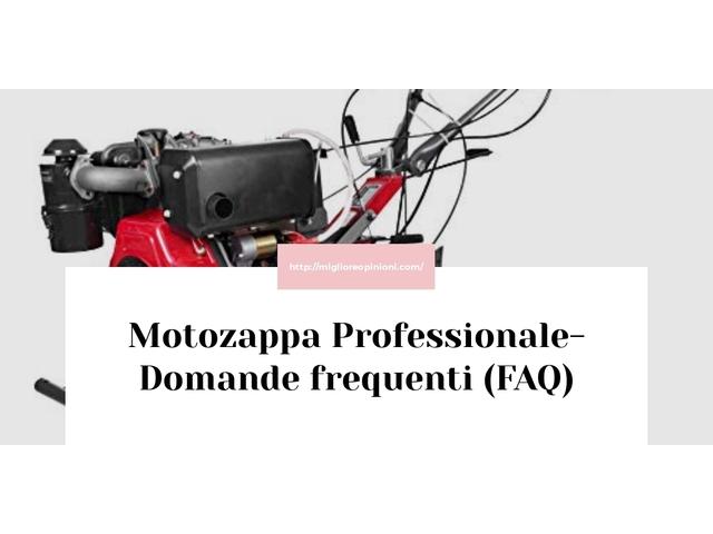 Motozappa Professionale- Domande frequenti (FAQ)