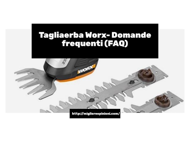 Tagliaerba Worx- Domande frequenti (FAQ)
