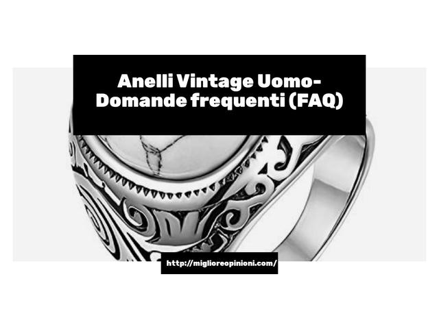 La top 10 Anelli Vintage Uomo – Consigli d'acquisto, Classifica e Recensioni del 2021