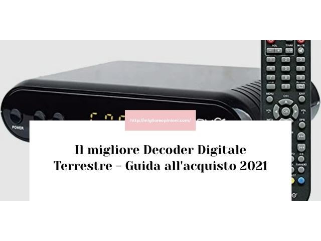 Le migliori marche di Decoder Digitale Terrestre italiane