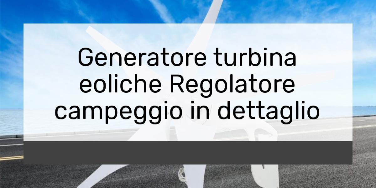 Generatore turbina eoliche Regolatore campeggio in dettaglio
