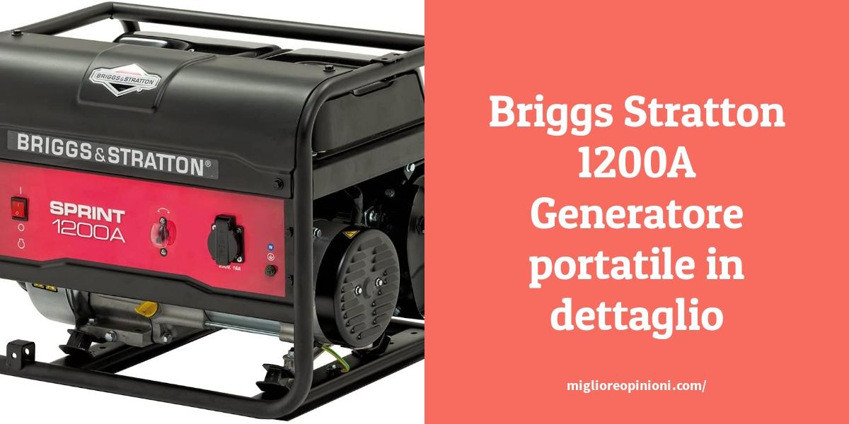 Briggs Stratton 1200A Generatore portatile in dettaglio