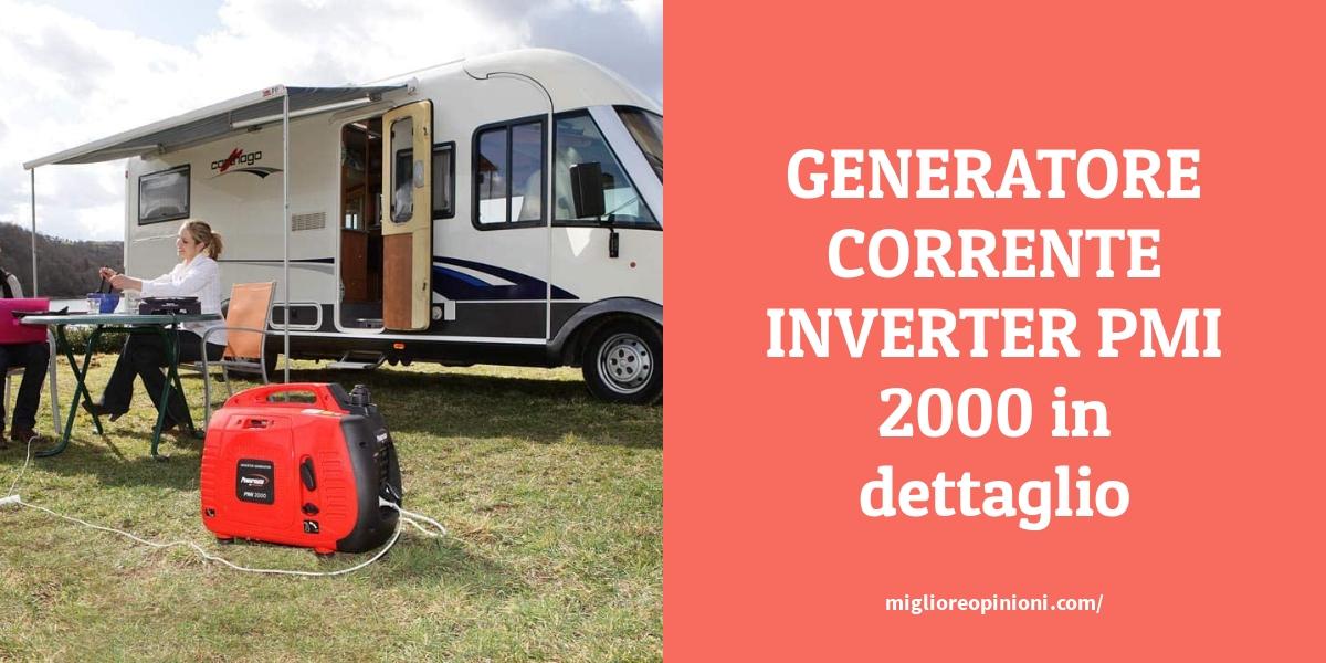 GENERATORE CORRENTE INVERTER PMI 2000 in dettaglio
