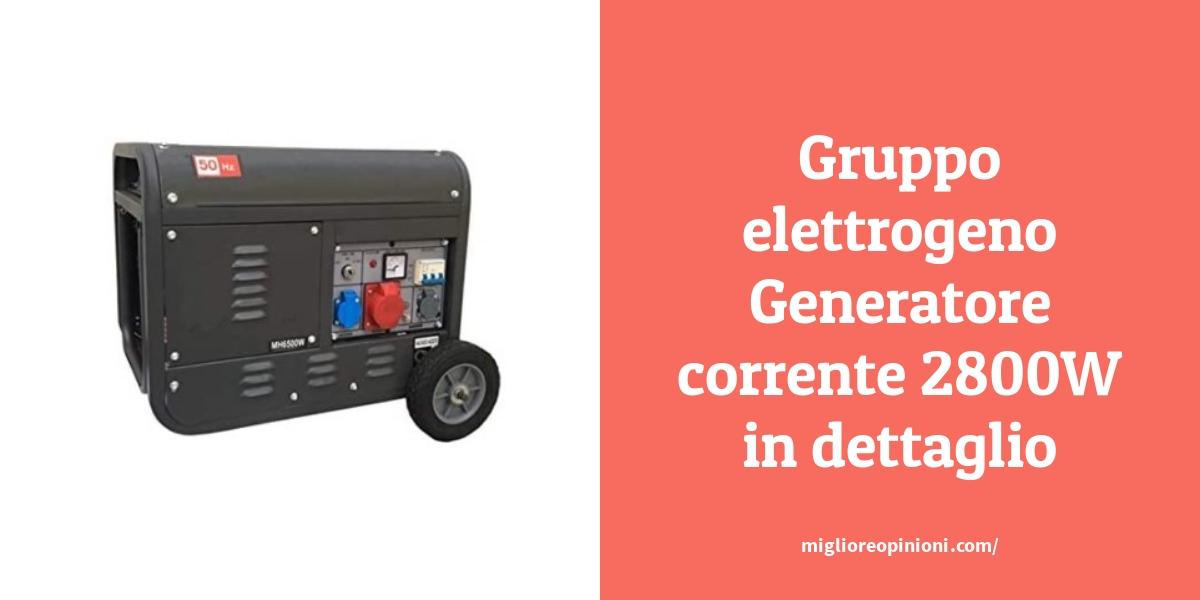 Gruppo elettrogeno Generatore corrente 2800W in dettaglio