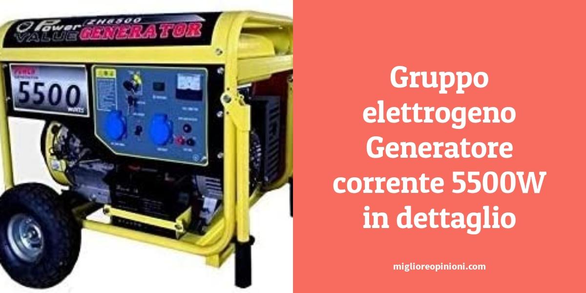 Gruppo elettrogeno Generatore corrente 5500W in dettaglio