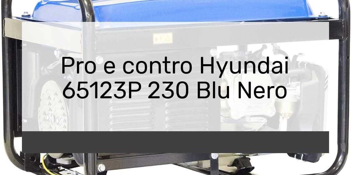 Pro e contro Hyundai 65123P 230 Blu Nero