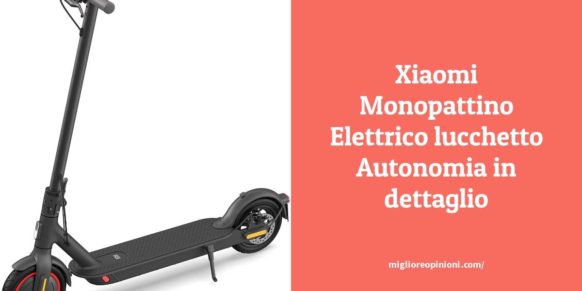 Xiaomi Monopattino Elettrico lucchetto Autonomia in dettaglio