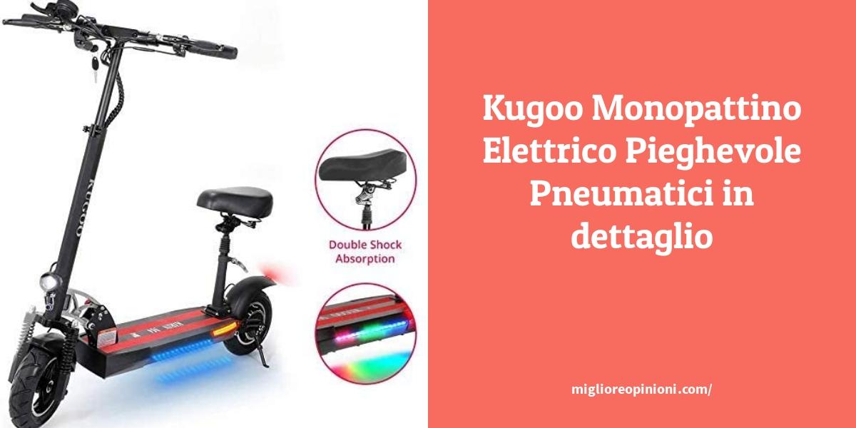 Kugoo Monopattino Elettrico Pieghevole Pneumatici in dettaglio