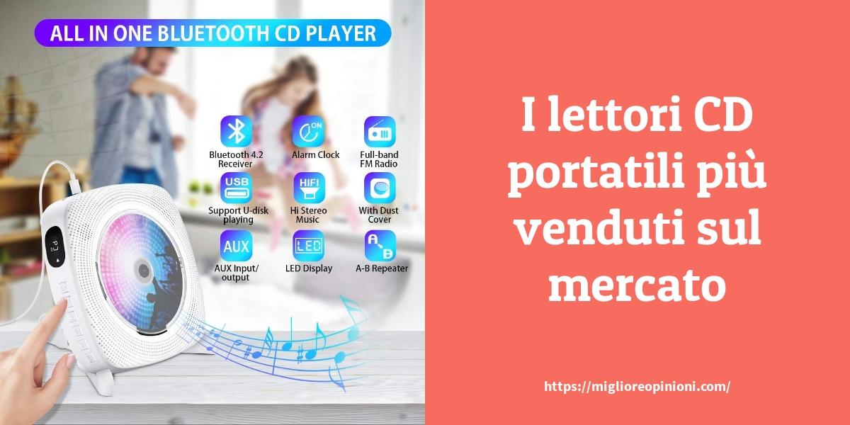 I lettori CD portatili più venduti sul mercato