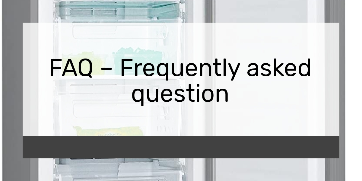 FAQ Frequently asked question